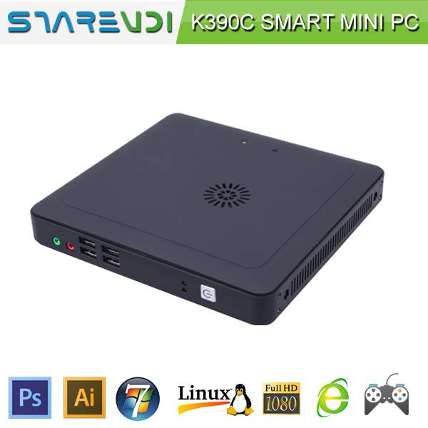 Mini desktop computer K390C celeron 1037U can stand and wall mounted thin client