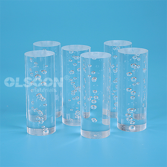 Extruded Clear Colorful Acrylic Round Rod for Lighting