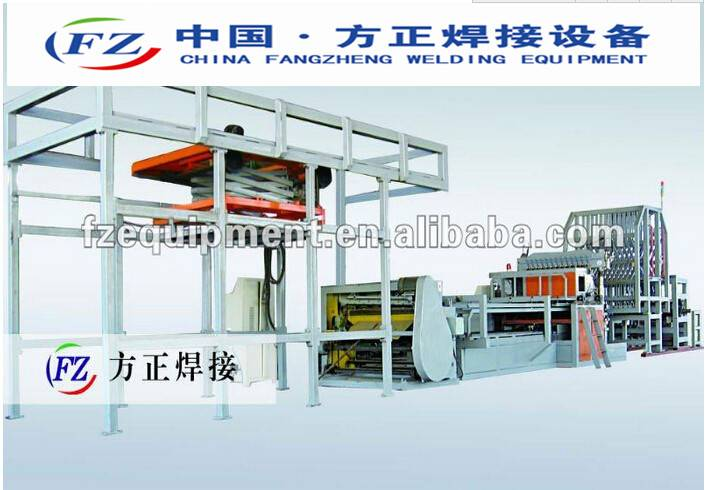 Full-automatic storage cage mesh welding equipment