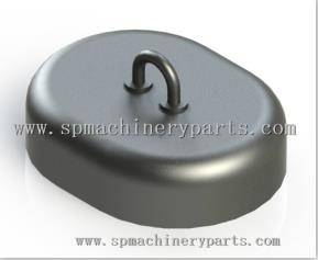 Custom Navigation System Iron Cast Oval Mooring Sinker With Handle