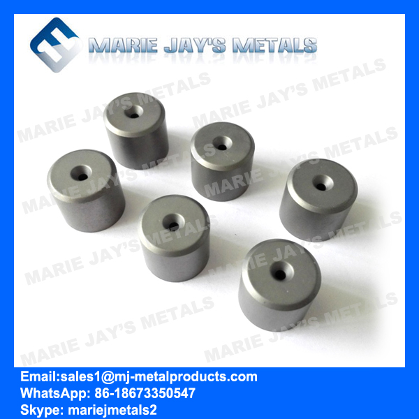 Cemented carbide nibs for drawing dies