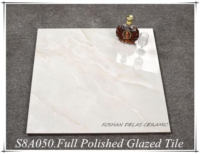 S8A050 High Glossy Cream Jade Marble Floor Tile 800x800