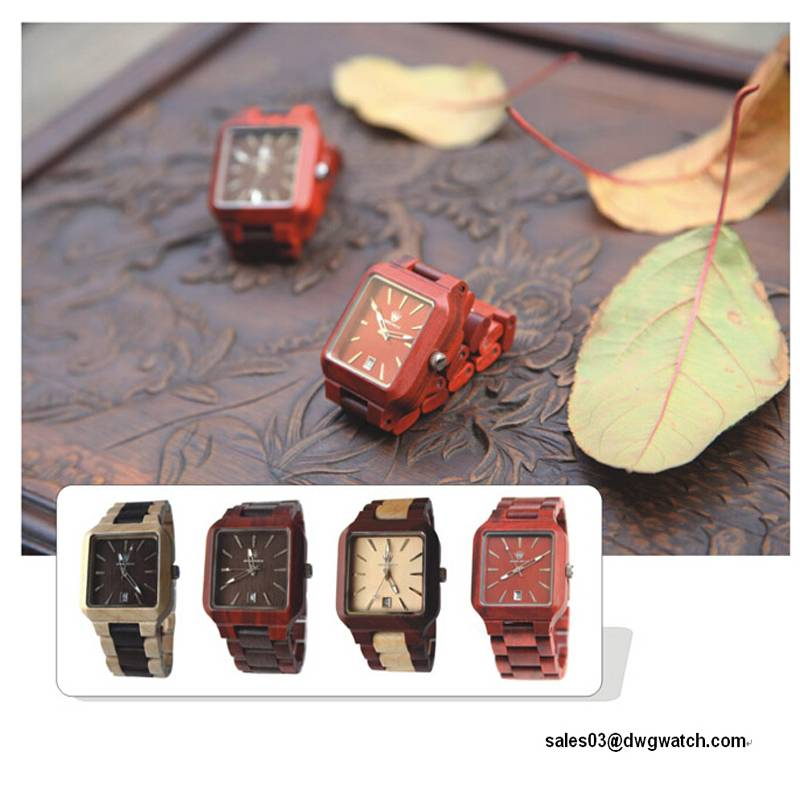 High Quality New Design Wood Material Fashion Wrist Watch