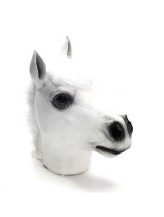 Youtumall Girl White Horse Head Mask Animal Costume Mask