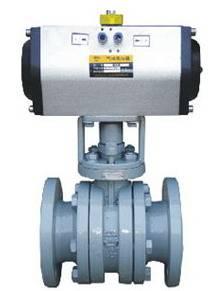 V type ceramic control ball valve