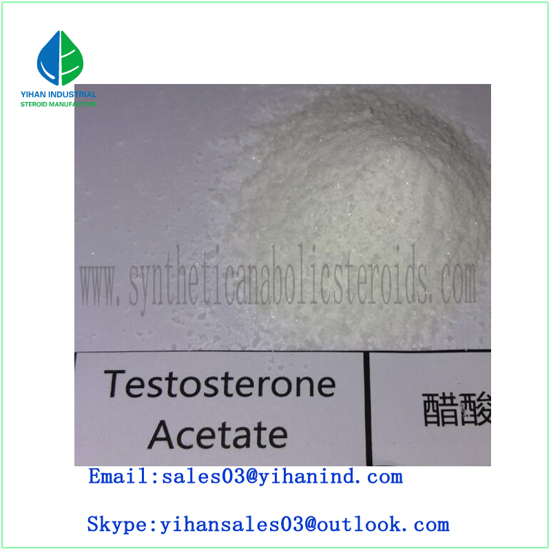 Raw Steroid Hormone Powder Testosterone Acetate/Test a Muscle Strength CAS1045-69-8 Iris