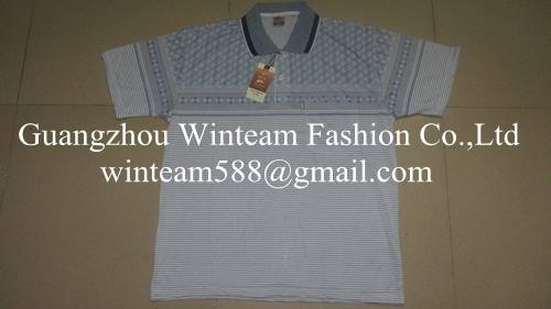 2014 wholesale new men's polo t-shirts with vertical striped for men
