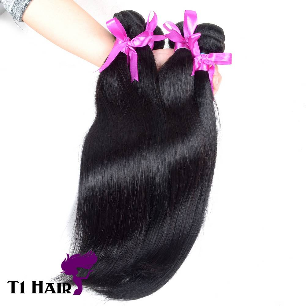 T1 Hair Mixed Length 3pcs Grade 7A Unprocessed Virgin Brazilian Straight Human Hair Extension Hair W