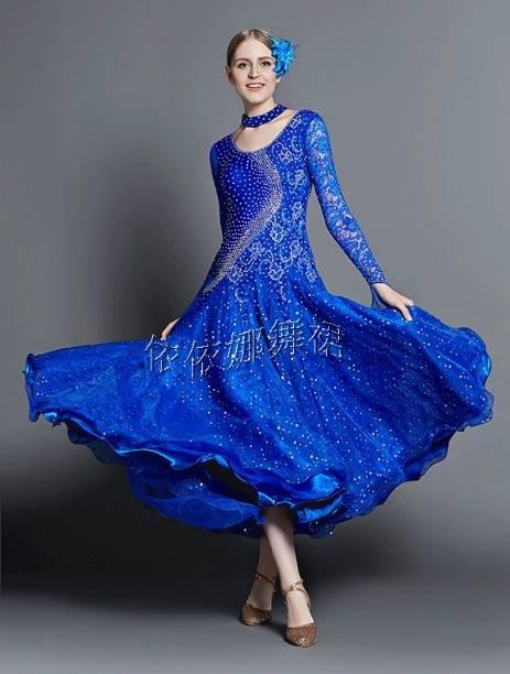 Taior-Made Royal Blue Ballroom Dance Dress Ballroom Gown Standard Dress Smooth Dress Ballroom Latin
