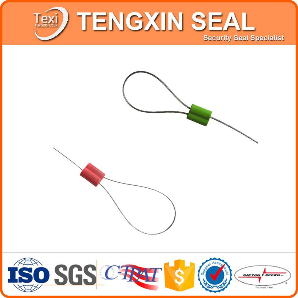 Aircraft High Security Cable Seals With Barcode Tamper Proof Markings
