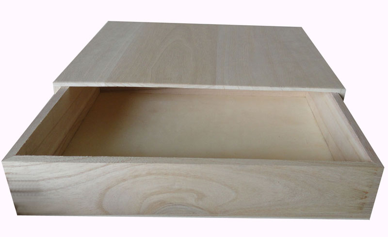 High quality unfinished wooden drawer box