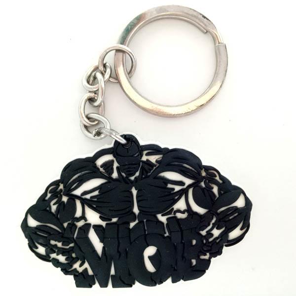 PVC Souvenir 2D muscle man key chain