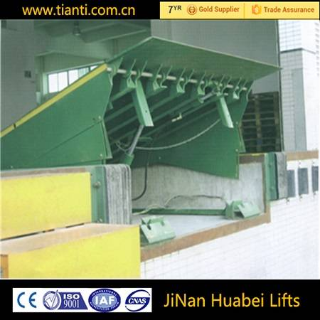 12T stationary ramp loading lift with hydraulic ramp