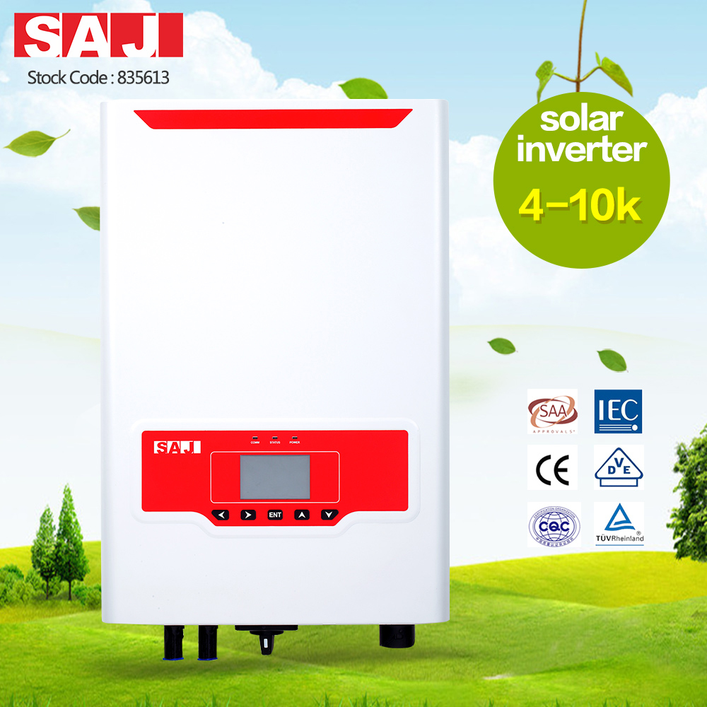 SAJ high quality grid tie solar inverter for solar rooftops residential system 4KW three phase