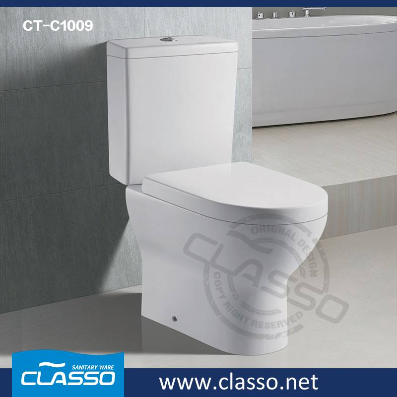 Top Hotel Bathroom Ceramic Sanitary Ware washdown toilet new design 4-inch CLASSO two piece closet C