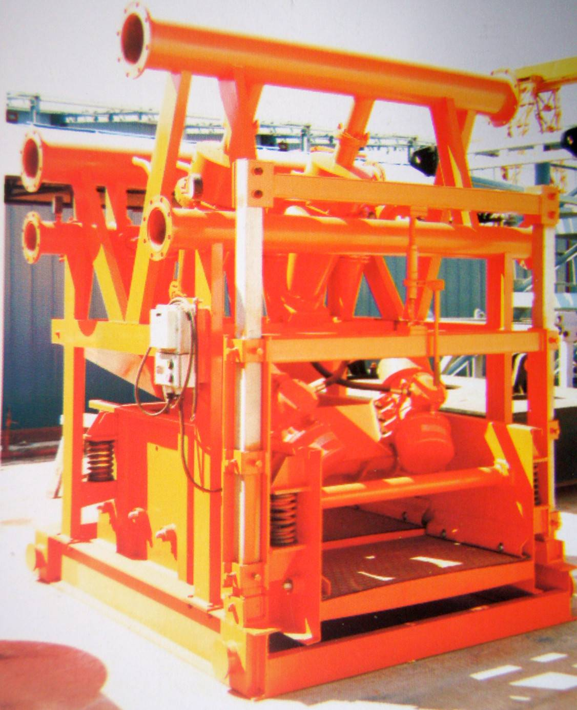 Oilfield drilling mud solids control mud cleaner