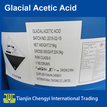 HOT SALE Glacial Acetic Acid or GAA 99.8% MIN Tech Grade in drums