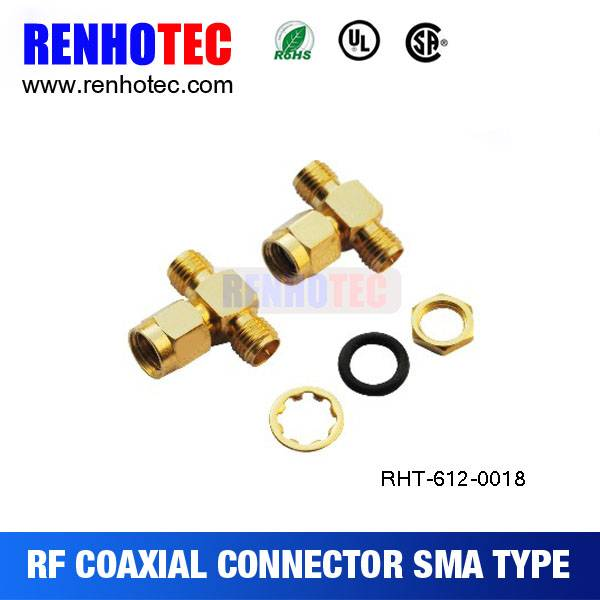 High quality Right Angle SMA male plug RF Coaxial Connector for RG174/RG58/LMR cable