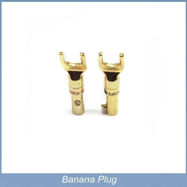 4mm banana plug Copper Gold Plated for Binding Post Amplifiers Speaker