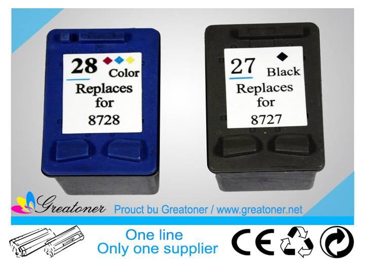 Compatible Black/Color inkjet Cartridge HP 27/28 sales07@hrgroup.hk