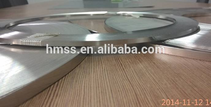4.6 or 7.9mm width 304 316L stainless steel strip for cable tie