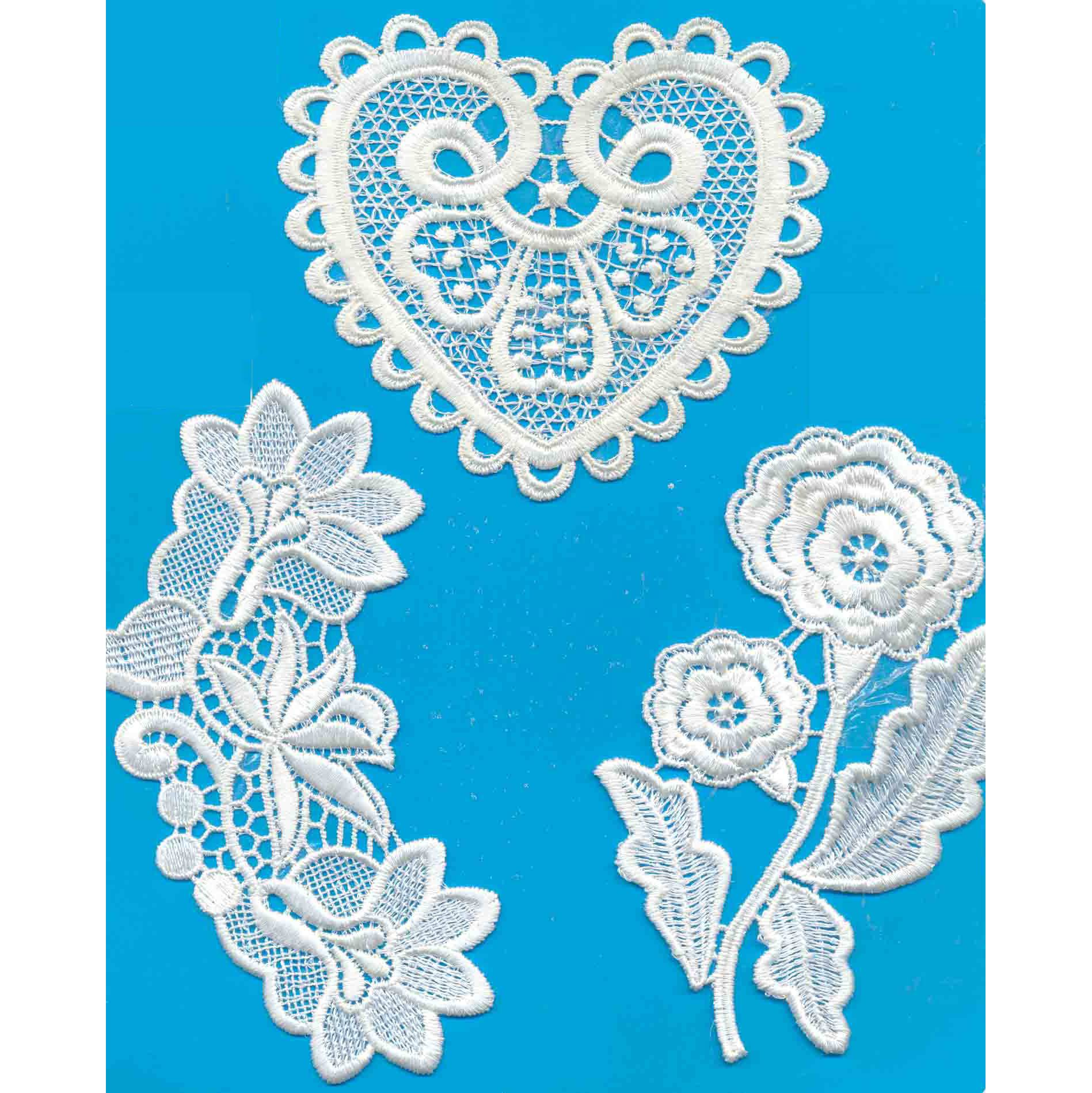 Water-soluble embroidery digitizing
