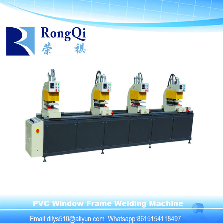 uPVC Windows Door Assemble Machine/ uPVC Window Color Profile Four Heads Seamless Welding Machine