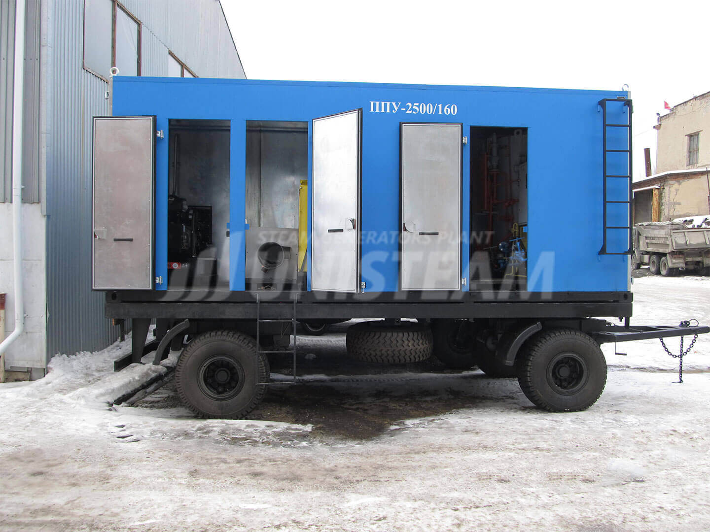 UNISTEAM-MP 2500/160 Portable Industrial steam unit for oilfield, railroad, roadbuilding industries