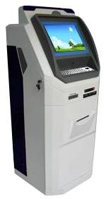 A16 is a selfservice touchscreen payment & ticket kiosk with cash validator, photo printer, receipt