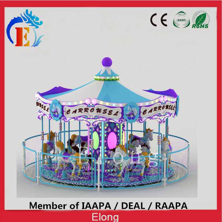 Elong 12 seats carousel amusement merry go round dreamy carousel horse