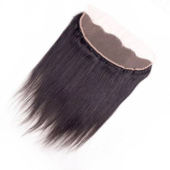 13*4inch straight siwss lace frontal virgin remy brazilian hair
