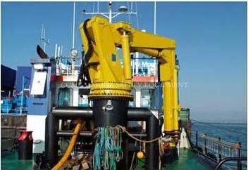 Electric-Hydraulic Knuckle Marine Crane