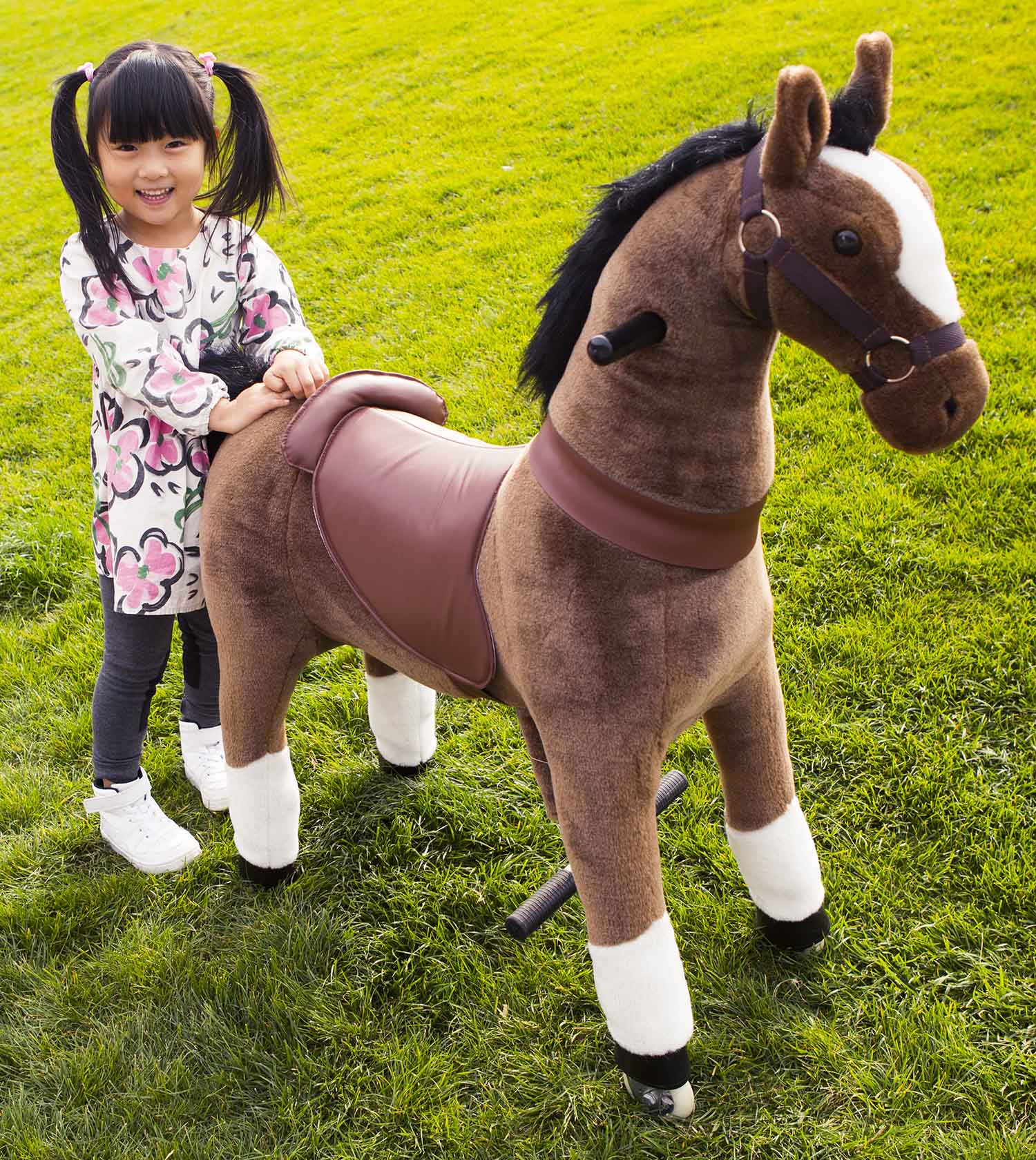 riding horse on wheels for kid and adult walking unicorn toy