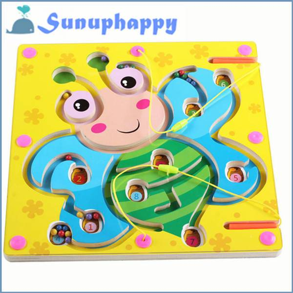 Factory supplier wholesale wooden sunflower shape maze toys for children