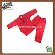 wholesale V neck red taekwondo uniforms