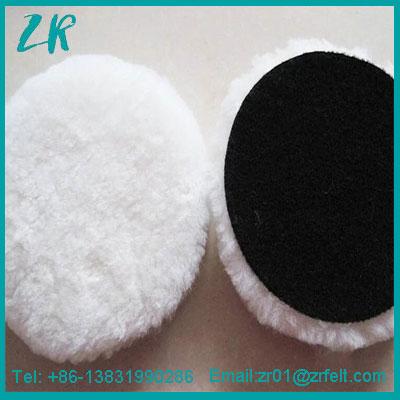 6 Inch Lambs Wool Hook and Loop Polishing Pad