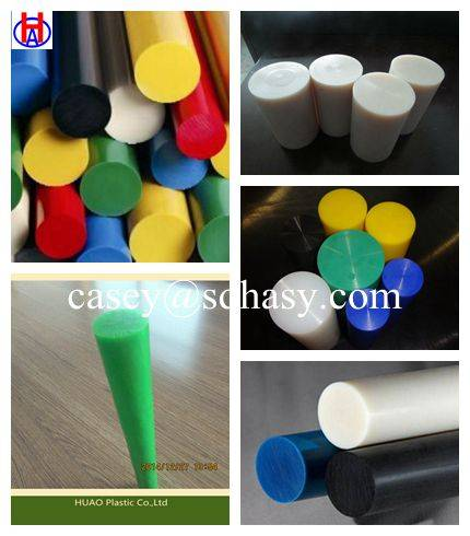 colored plastic solid   hdpe rod