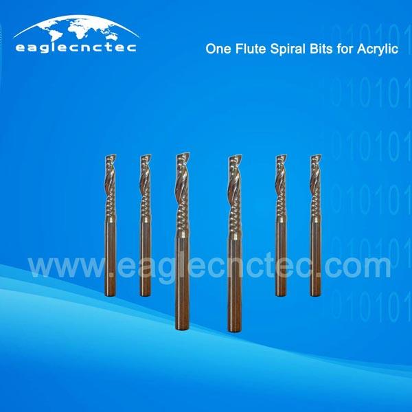 Arcylic Cutting One Flute Spiral Bits