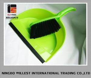 New style plastic brush and dustpan printed dustpan and broom