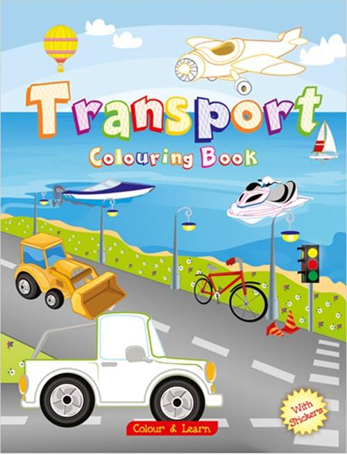 Transport Colouring Book