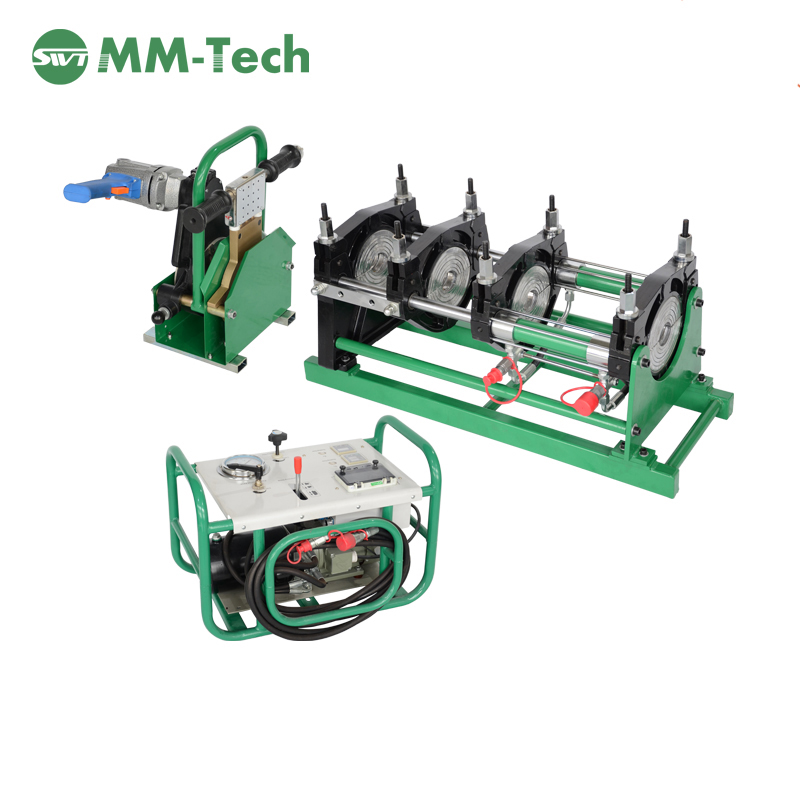 thermofusion welding machine for polyethylene pipes and tubes, HDPE tube butt fusion welding machine
