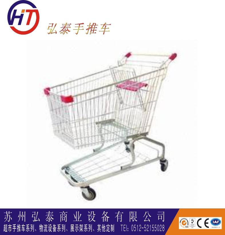 supermarket metal shopping trolley for seniors on wheels