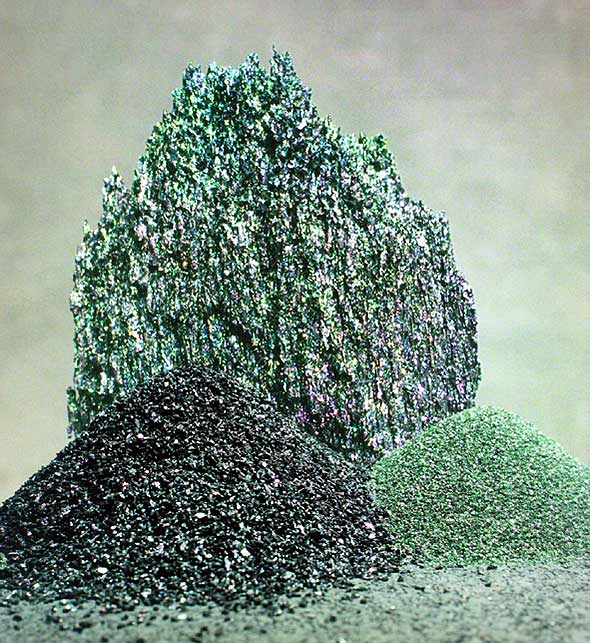 F150 Abrasive Materials 99% Green Silicon Carbide used for cutting blade and sandpaper