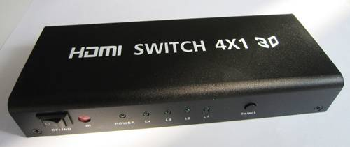 4-port HDMI switcher Hub 4x1 + IR Remote 1080P