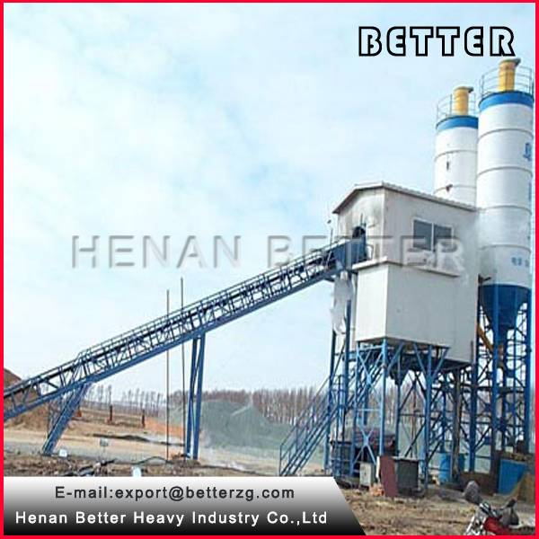 Twin Horizontal Shaft Mixer HZS60 Concrete Batching Plant Price