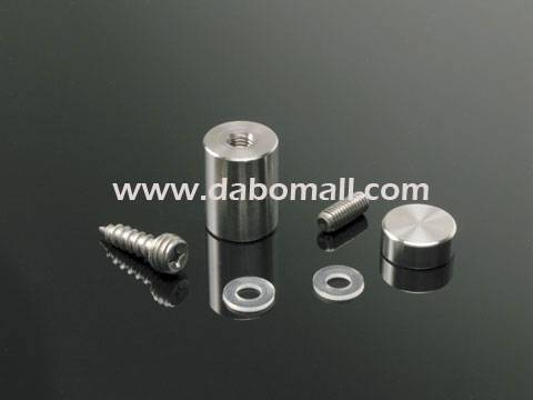 Stainless standoffs, easy fixing type for acrylic and glass sign panels