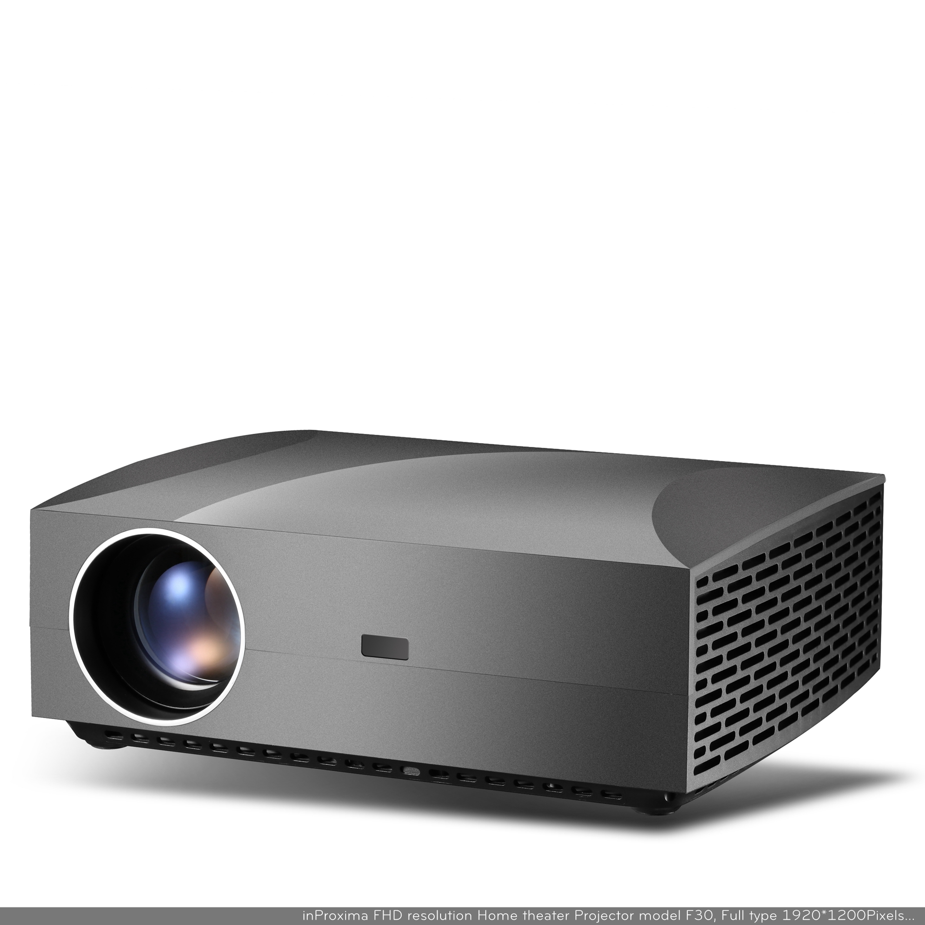 inProxima F30 1080P 4200 Lumens High Bright Led LCD Multimedia Entertainment Home Theater Projector