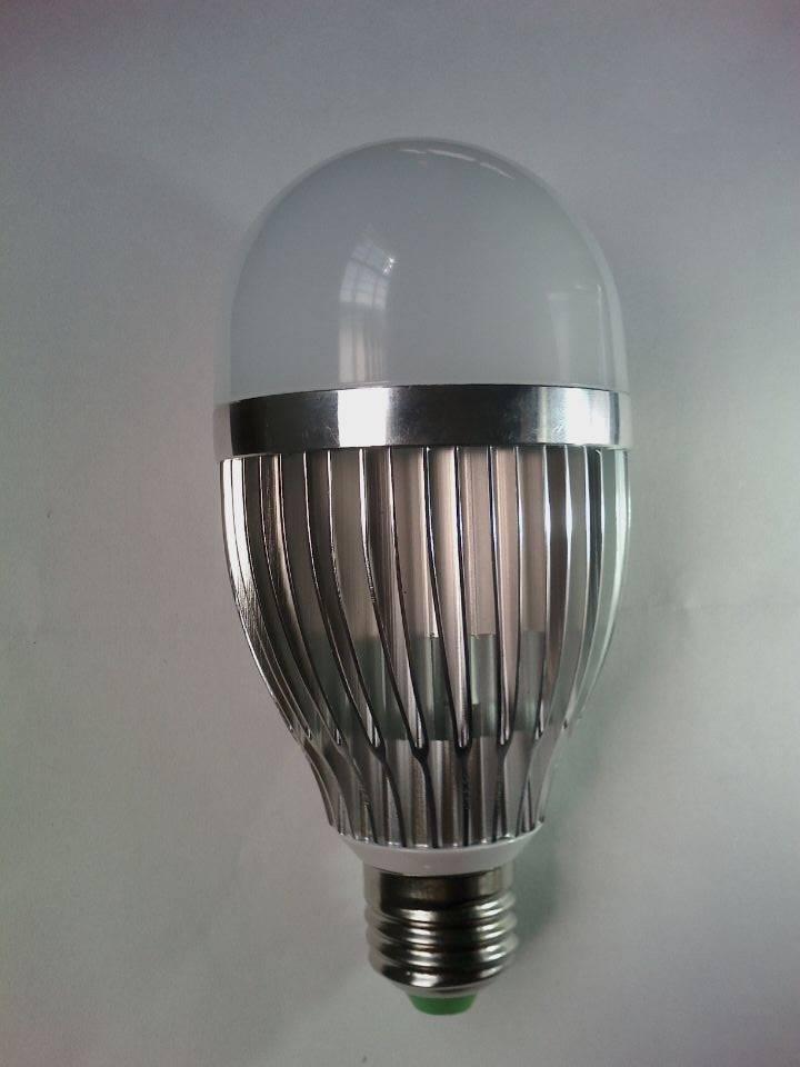 9w led aluminum bulb e27 b22 base