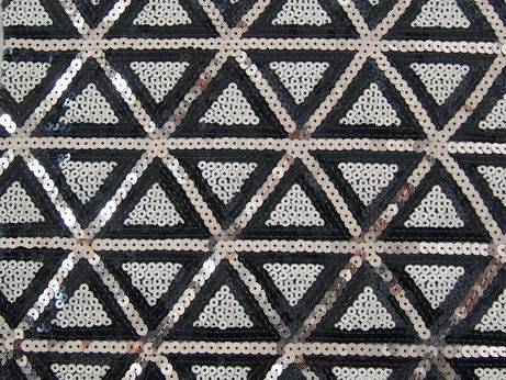 sequin embroidery on poly mesh fabric