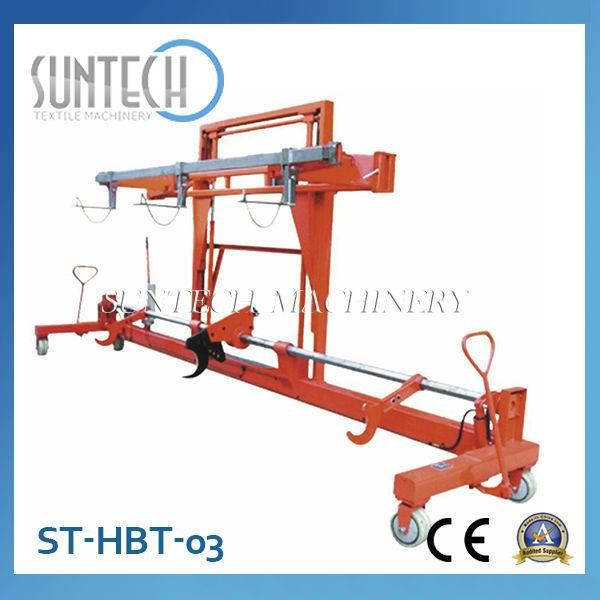 ST-HBT-03 Hydraulic Warp Beam Lift Trolley With Harness Mounting Device(For Twin Warp Beam; Wider Wi